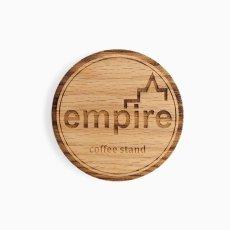 画像2: empire coffee stand  drink coaster (無垢材7mm厚) (2)