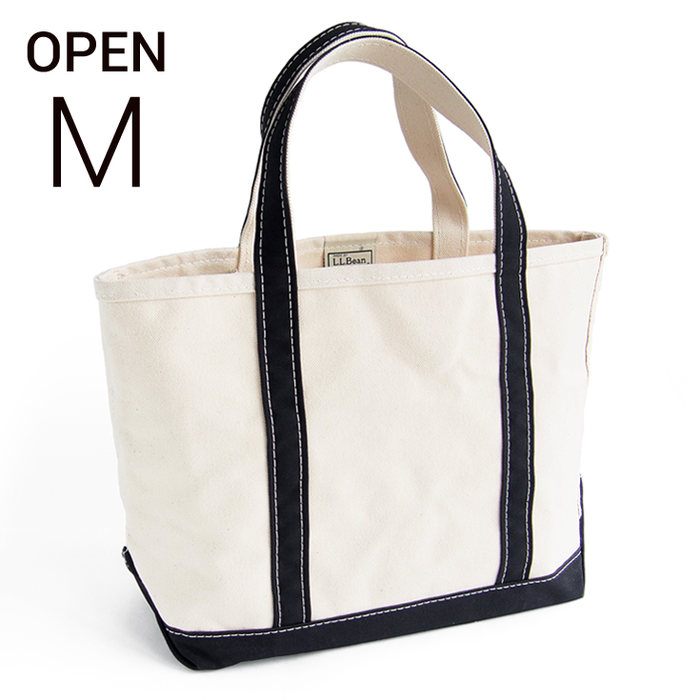 画像1: L.L.Bean   boat and tote bag open-top (Irregular) regular handle (M) BLACK  (1)