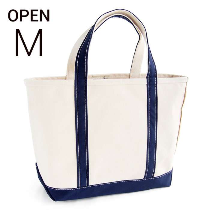 画像1: L.L.Bean   boat and tote bag Open-Top (Irregular) regular handle M BLUE (1)