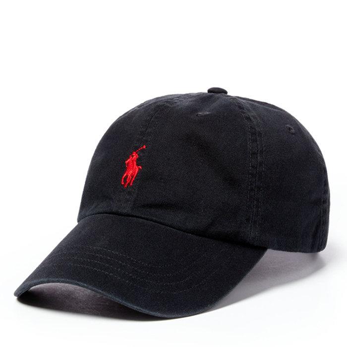 画像1: POLO RALPH LAUREN  signature pony baseball cap BK (1)