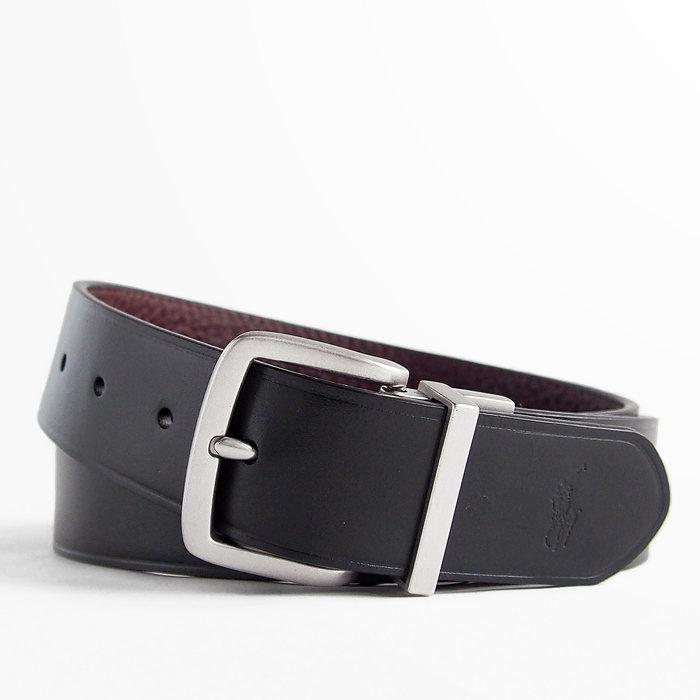 画像1: POLO RALPH LAUREN  leather reversible belt  (1)