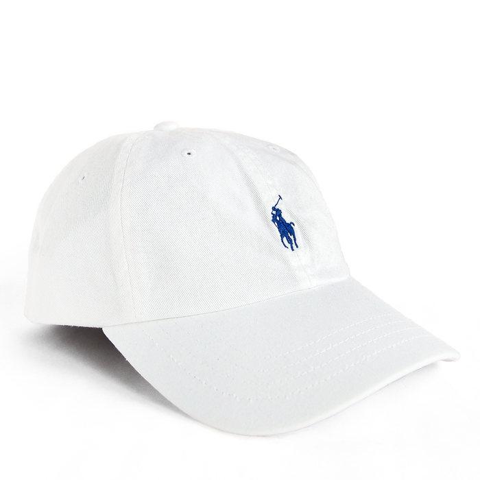 画像1: POLO RALPH LAUREN  signature pony baseball cap WH (1)