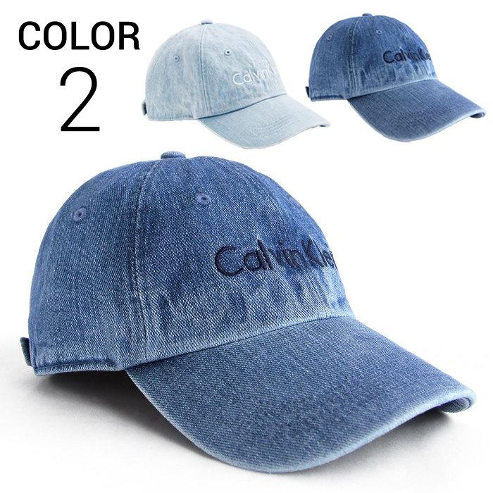 画像1: Calvin Klein  signature wash denim cap 2color (1)