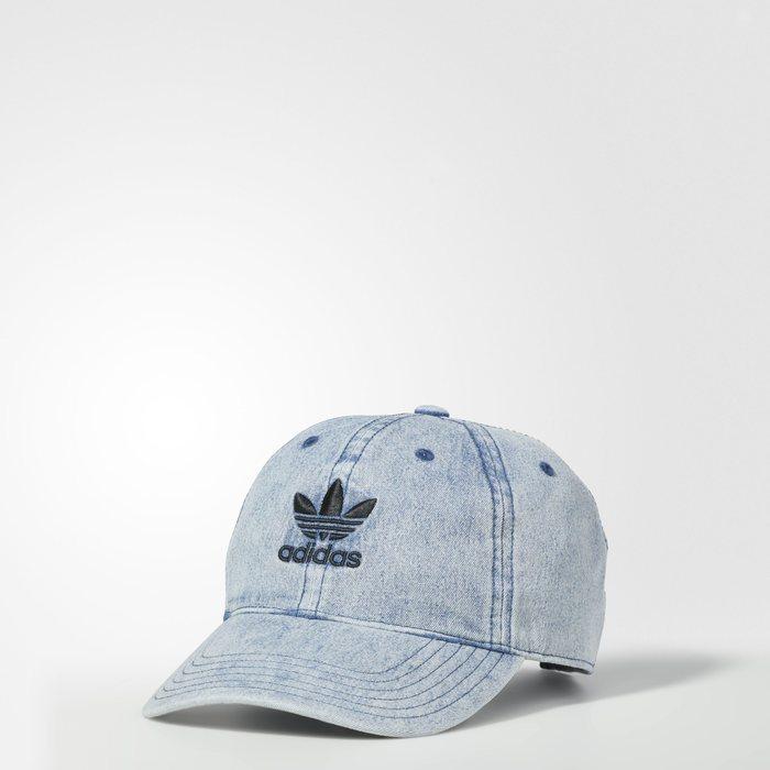 画像1: adidas Originals  relaxed denim strap-back cap (1)