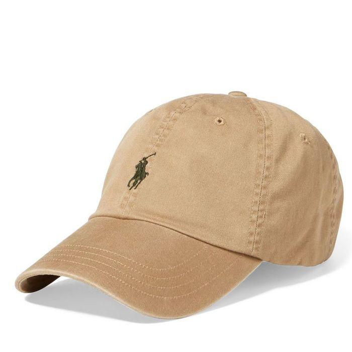 画像1: POLO RALPH LAUREN   signature pony baseball cap TAN (1)
