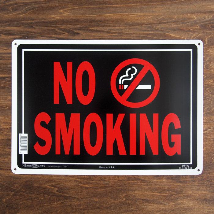画像1: ETERNITY's SELECT Hillman Sign Center signboard NO SMOKING (1)