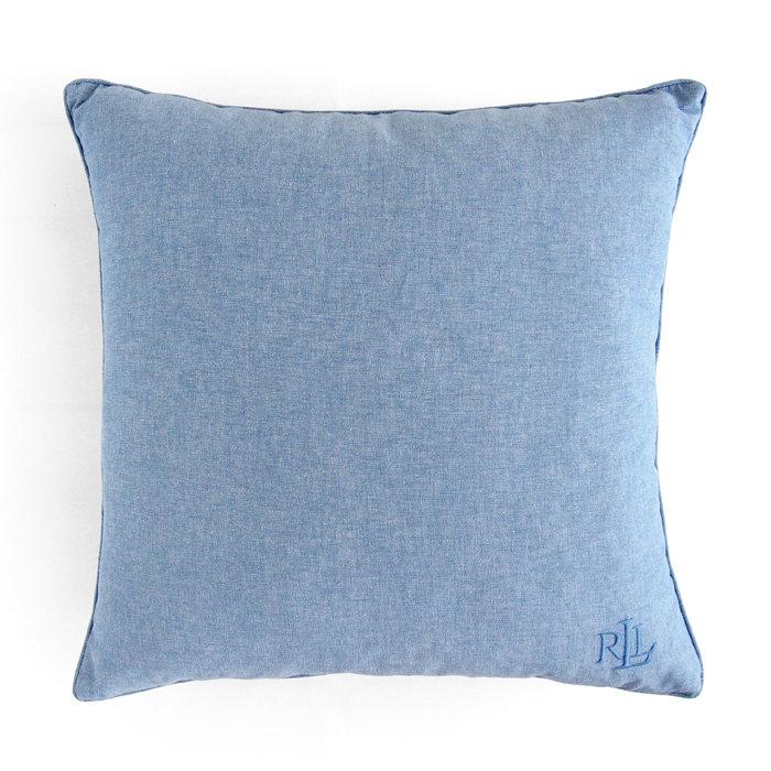 画像1: RALPH LAUREN HOME  cotton pillow BL (1)