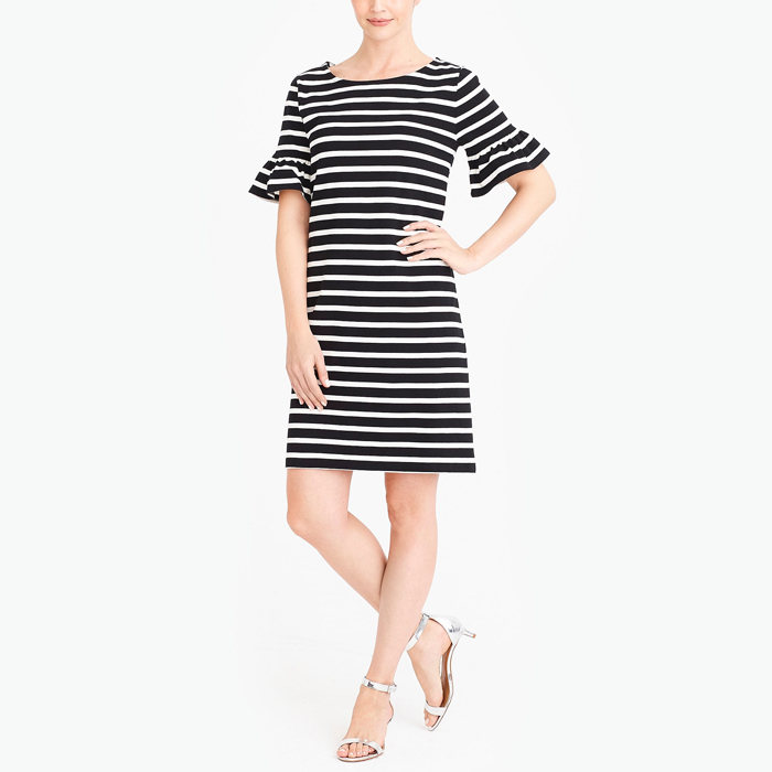 画像1: J.CREW WOMAN  ruffle-sleeve dress (XS,M) (1)