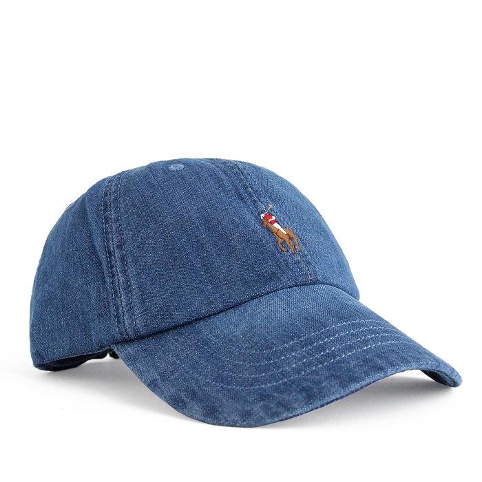 画像1: POLO RALPH LAUREN   denim baseball cap (1)