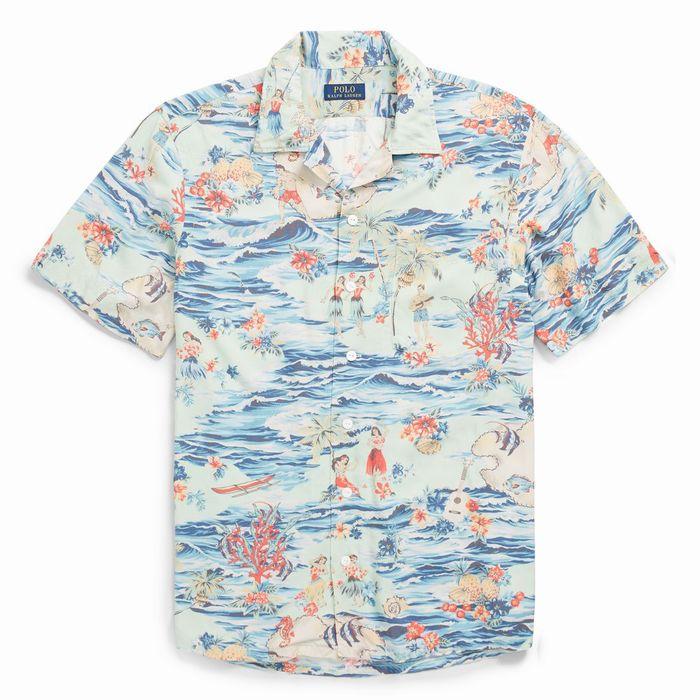 画像1: POLO RALPH LAUREN  classic fit hawaiian shirt (1)