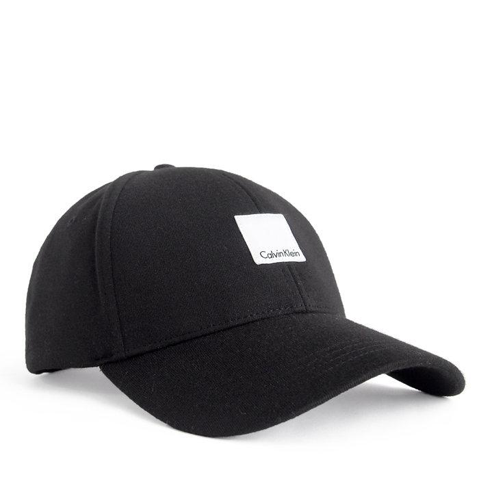 画像1: Calvin Klein  signature badge baseball cap BK (1)