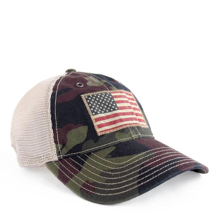 画像1: POLO RALPH LAUREN   camo-print twill trucker hat (1)