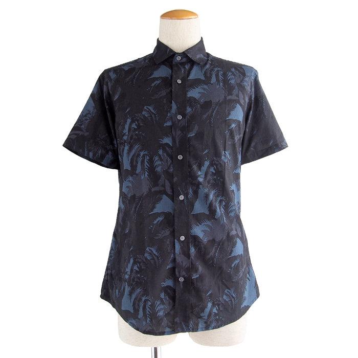 画像1: SLATE & STONE  botanical print shirts (L) (1)