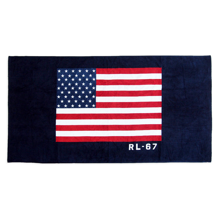 画像1: RALPHLAUREN HOME  RL-67 flag beach towel (1)