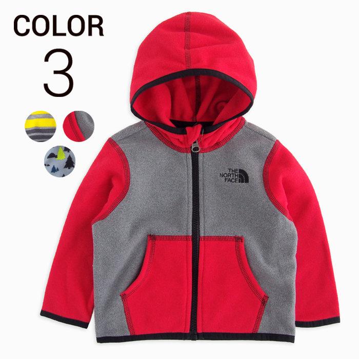 画像1: THE NORTH FACE KIDS  infant glacier full zip hoodie 3color (1)