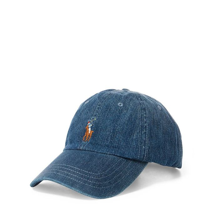 画像1: POLO RALPH LAUREN   denim baseball cap (1)