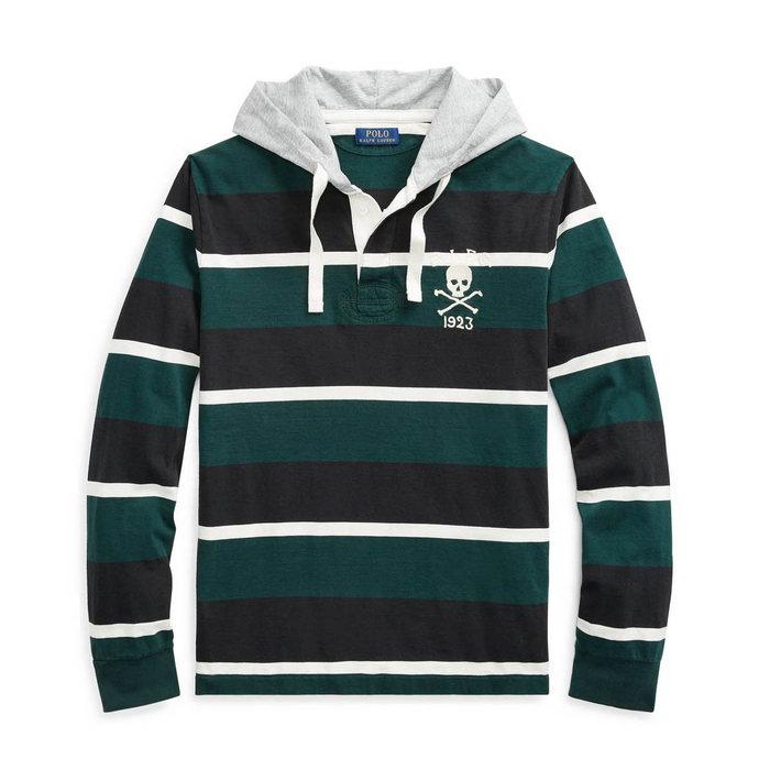 画像1: POLO RALPH LAUREN   cotton hooded rugby shirt (1)