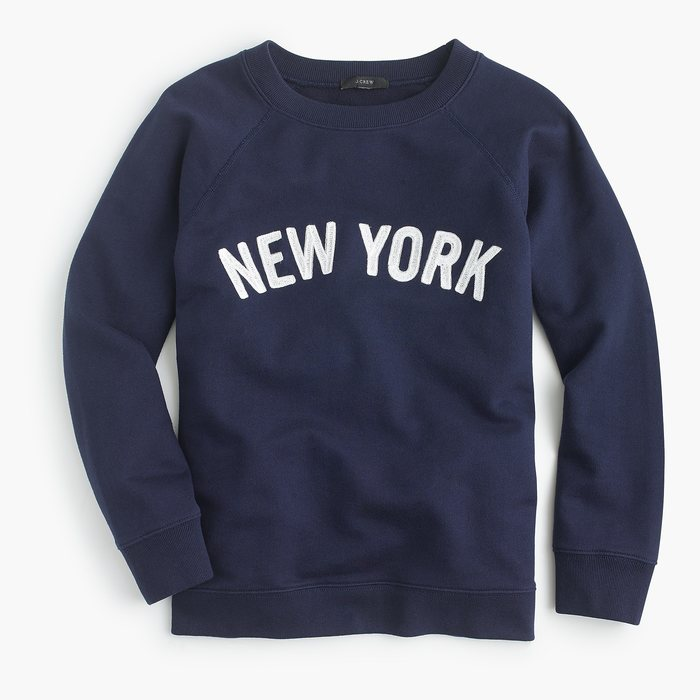 "画像1: J.CREW WOMEN  ""NEW YORK"" pullover sweatshirt  (1)"