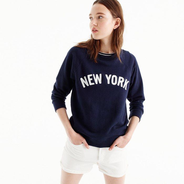 """画像1: J.CREW WOMEN  """"NEW YORK"""" pullover sweatshirt  (1)"""