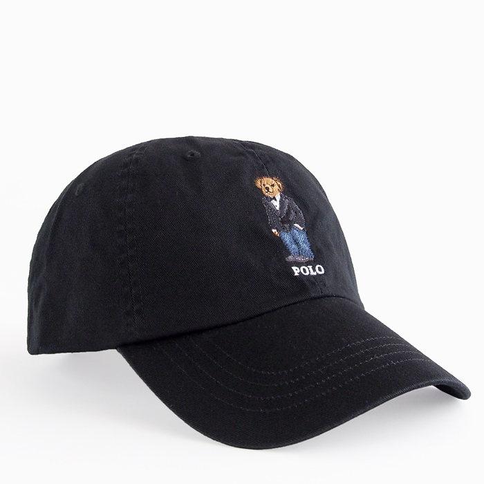 画像1: POLO RALPH LAUREN  polo bear baseball cap BK (1)