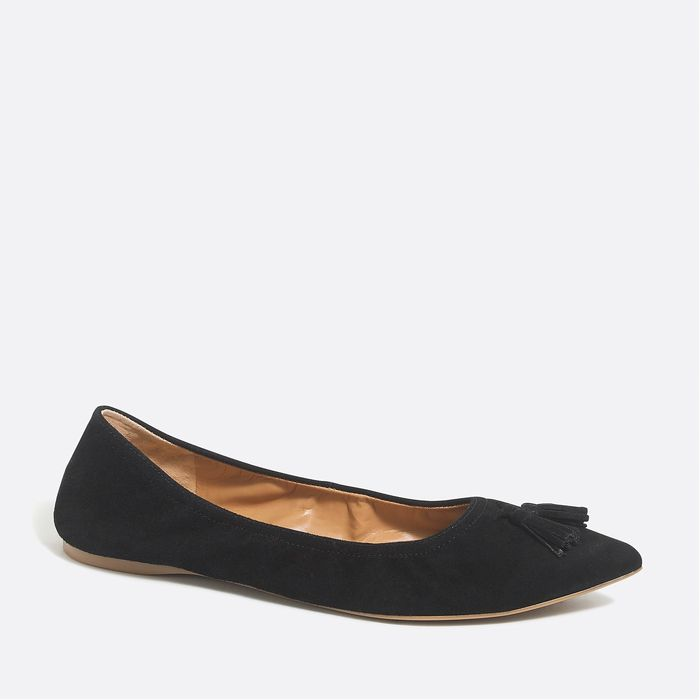 画像1: J.CREW WOMEN   suede tassel stretch flats 3color (1)