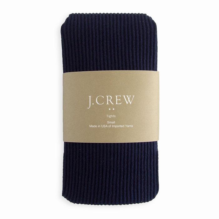 画像1: J.CREW WOMEN  ribbed tights NAV (1)