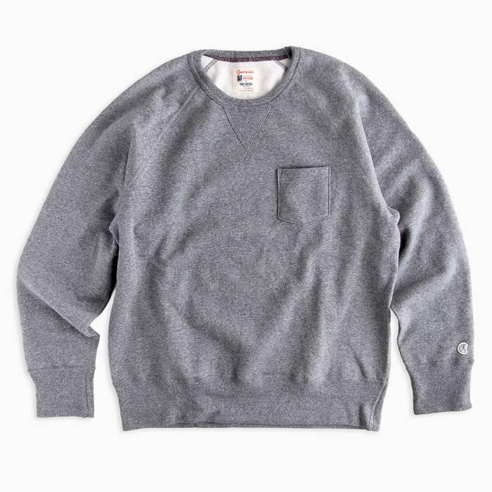 画像1: Todd Snyder + Champion  sweatshirt in salt and pepper (XL, XXL) (1)
