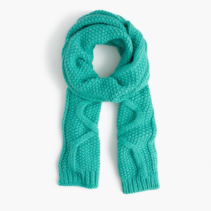 画像1: J.CREW WOMEN  cable scarf In italian wool blend (1)
