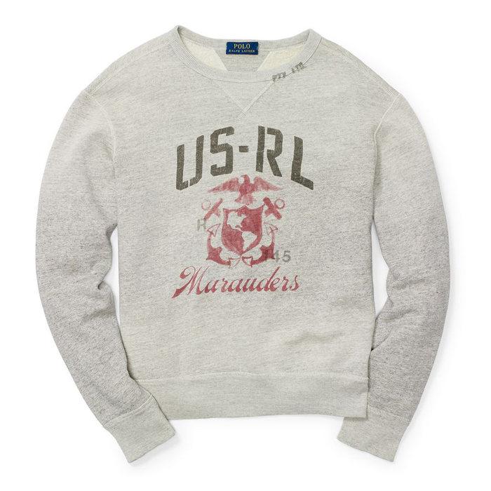 画像1: POLO RALPH LAUREN  cotton blend fleece sweatshirt(S) (1)