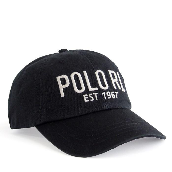 画像1: POLO RALPH LAUREN  POLO RL signature baseball cap BK (1)