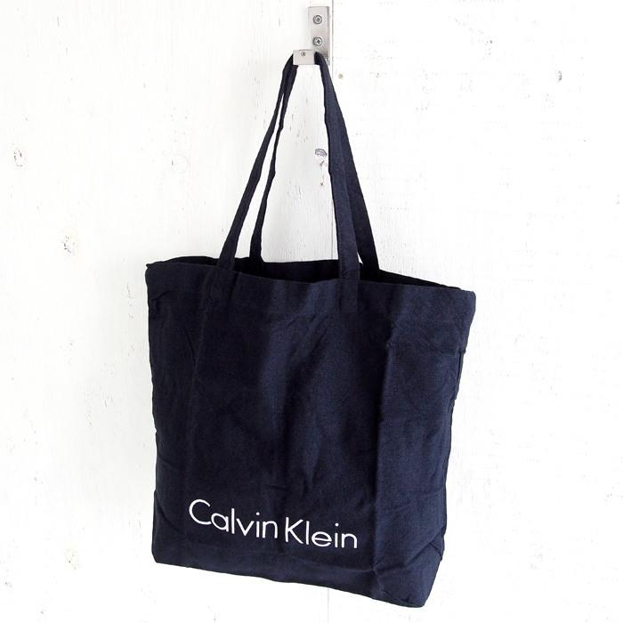 画像1: Calvin Klein  sustainable logo tote bag NAV (1)