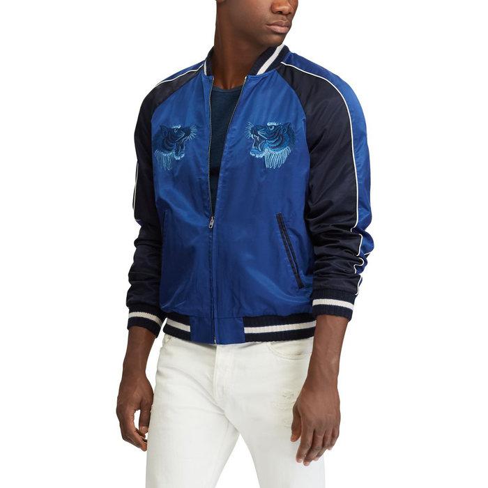 画像1: POLO RALPH LAUREN   satin souvenir jacket (XXL) (1)