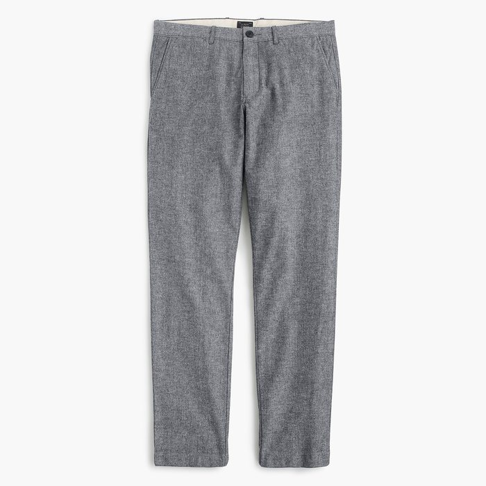 画像1: J.CREW  770 straight-fit pant in stretch chambray (1)