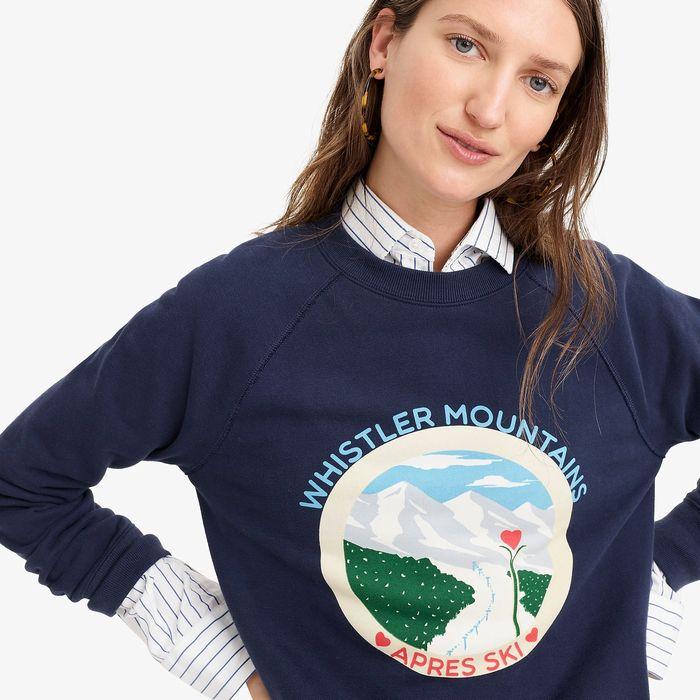 """画像1: J.CREW WOMEN  """"Whistler"""" sweatshirt (S) (1)"""