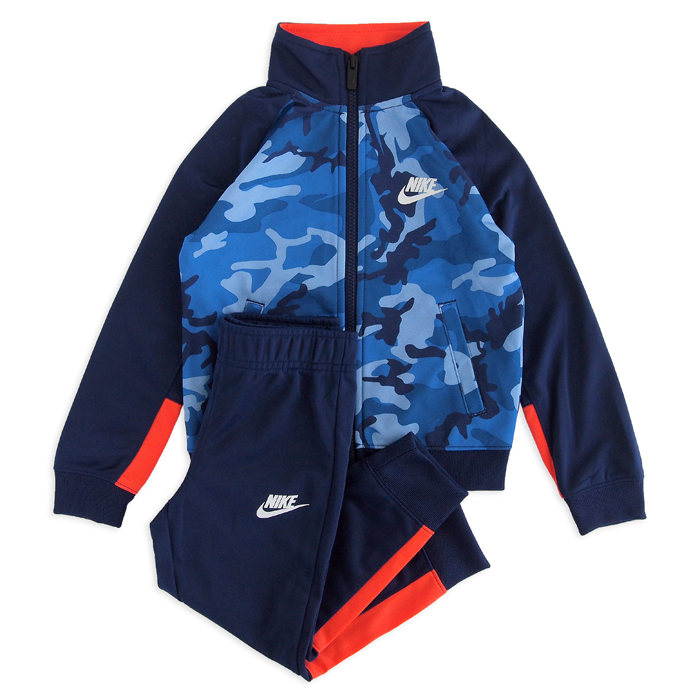 画像1: NIKE BOYS  track suit 2piece set BLUE VOID  (1)