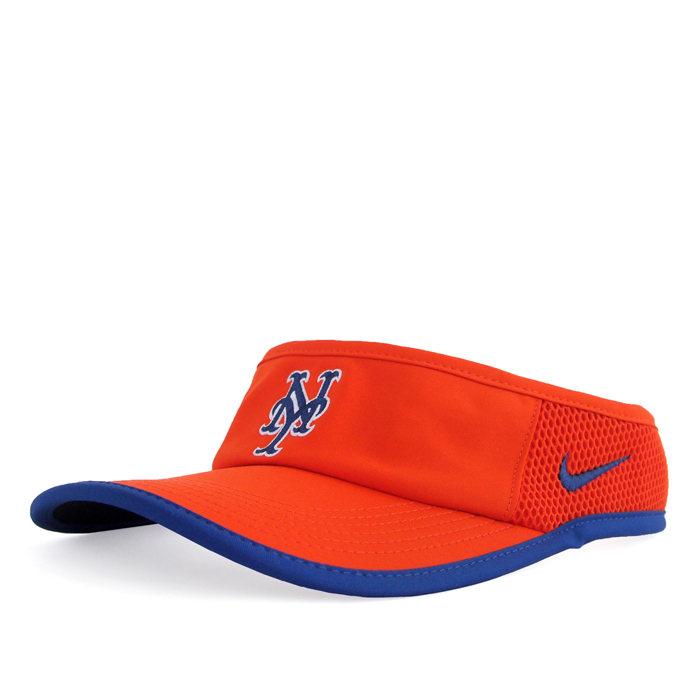 画像1: NIKE  feather light dri-fit visor New York Mets (1)