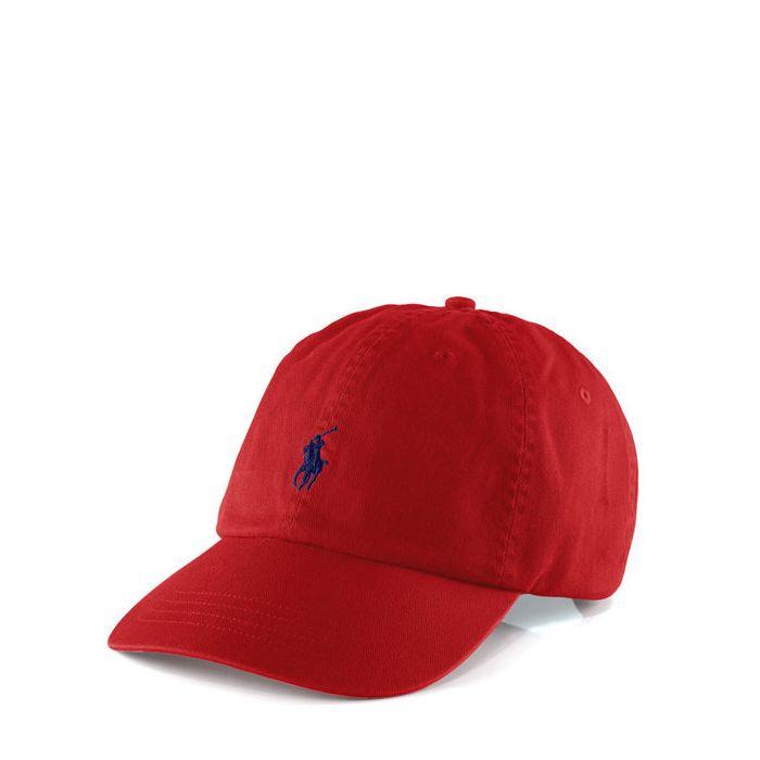 画像1: POLO RALPH LAUREN   signature pony baseball cap RED (1)