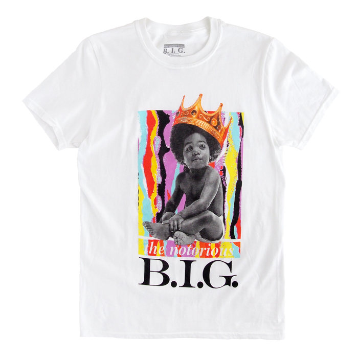 画像1: The Notorious B.I.G.  Brooklyn Mint cotton crewneck t-shirts WH (L-XL) (1)