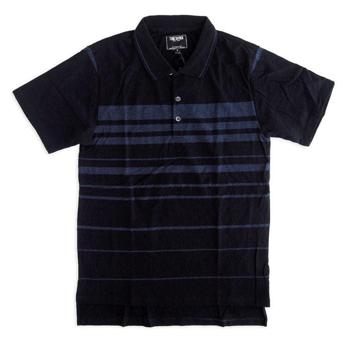 画像1: TODD SNYDER  varigated stripe polo (S) (1)