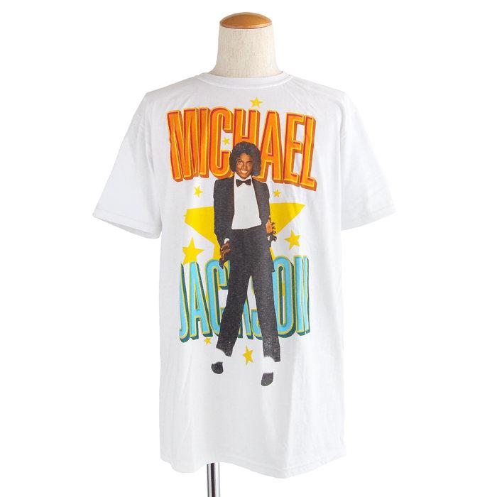 画像1: Michael Jackson  cotton crewneck t-shirts (L) (1)