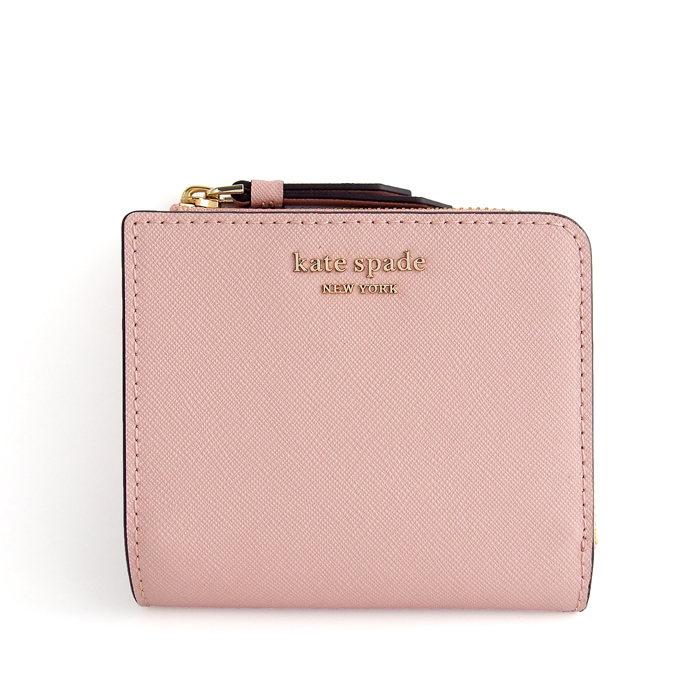 画像1: kate spade new york  small l-zip bifold wallet cameron (1)