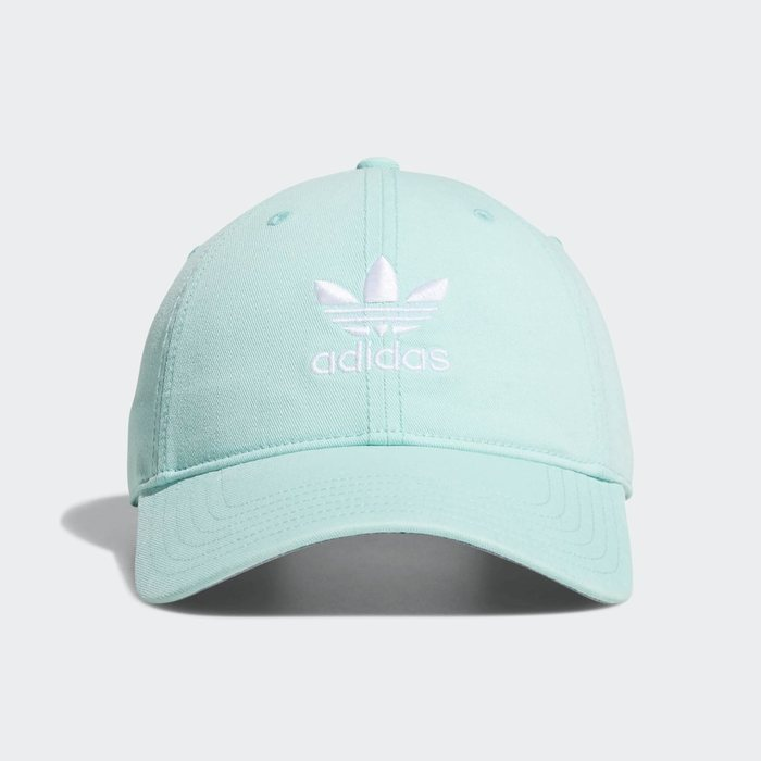 画像1: adidas Originals  relaxed strap-back cap MINT (1)