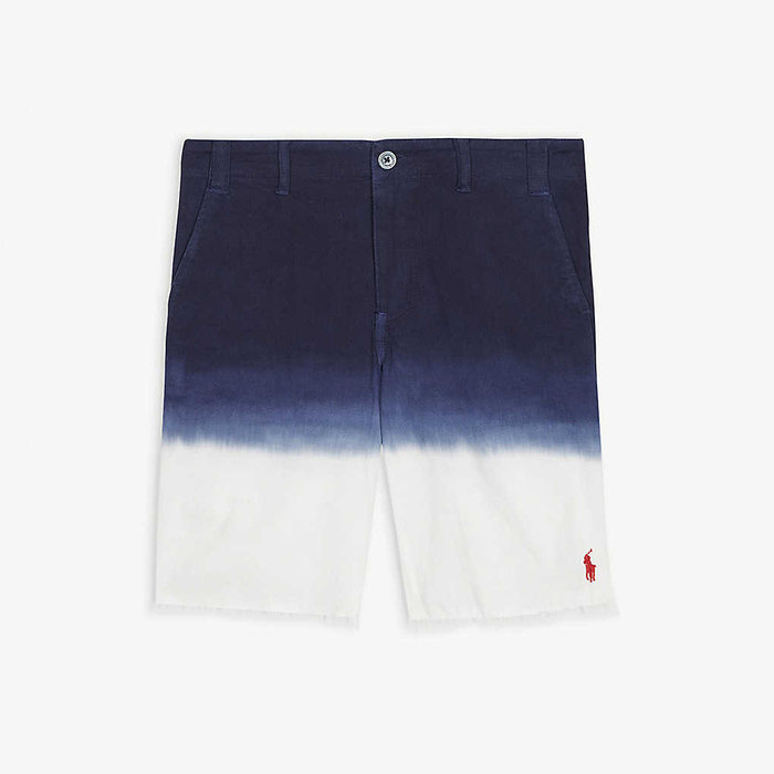 画像1: POLO RALPH LAUREN   tie-dye cotton chino shorts (1)