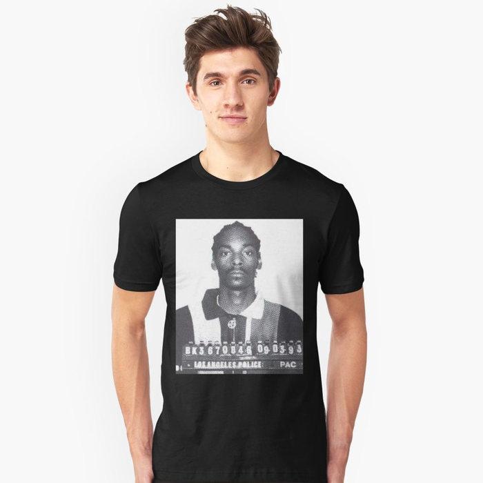 画像1: SNOOP DOGG  mugshot t-shirts (L-XL) (1)
