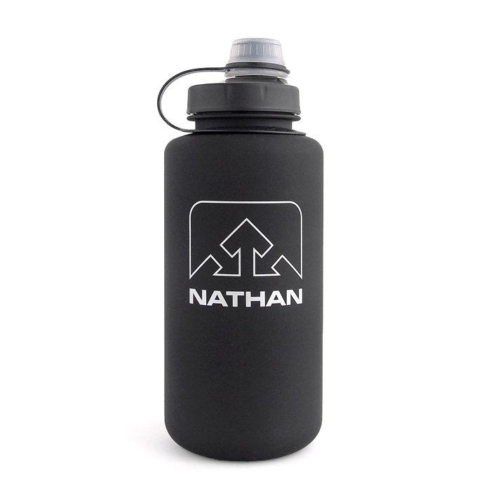 画像1: NATHAN  big shot water bottle 1L BK (1)