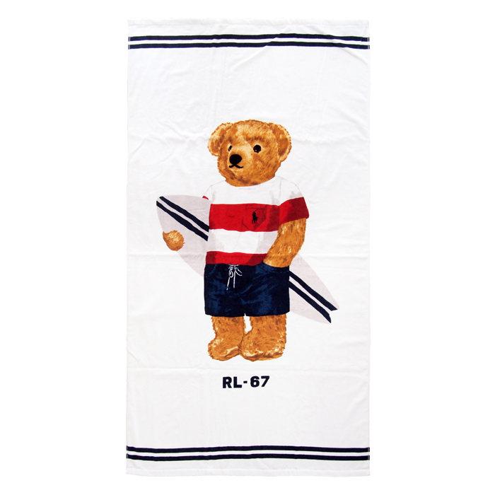 画像1: RALPHLAUREN HOME   polo bear beach towel (1)