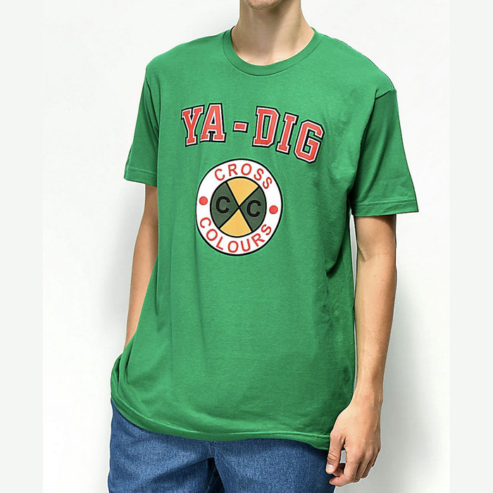 画像1: CROSS COLOURS   YA-DIG Logo T-Shirt (1)