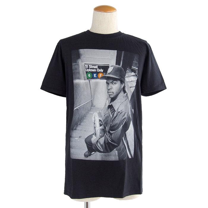 画像1: Ice Cube  crewneck t-shirt  (1)