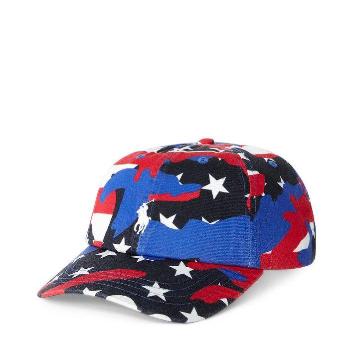 画像1: POLO RALPH LAUREN   signature pony americam flag baseball cap  (1)