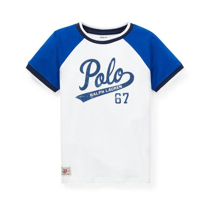 画像1: POLO RALPH LAUREN BOYS  cotton jersey graphic t-shirt (BOYS M)  (1)